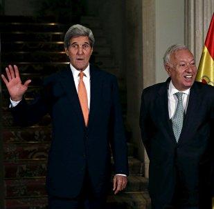 Secretario de Estado de EEUU, John Kerry, y ministro de Asuntos Exteriores español, José Manuel García-Margallo