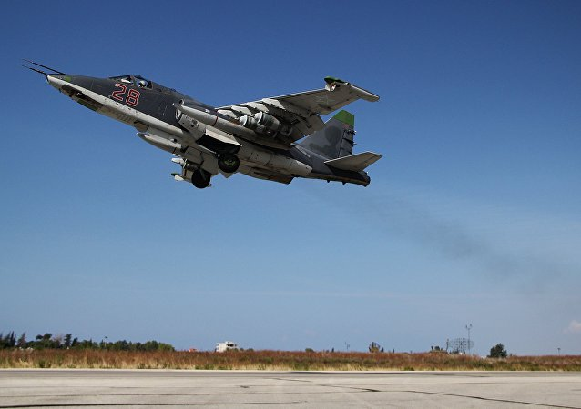 Caza rusa Su-25 en Siria
