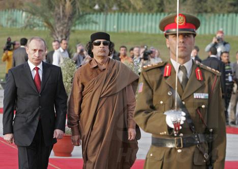 Presidente ruso visita Libia