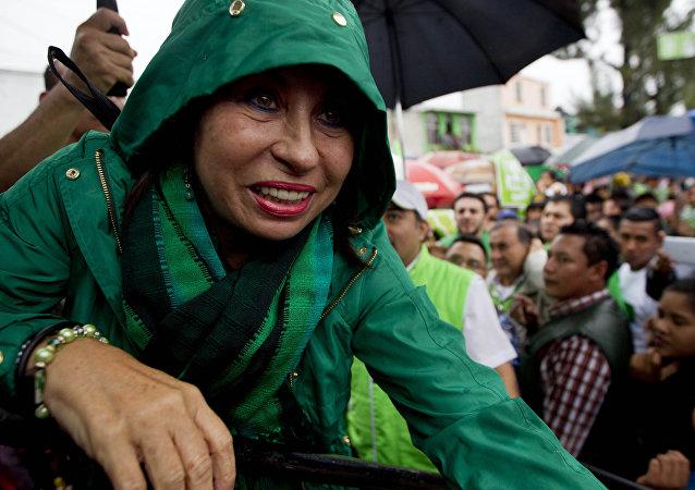 Sandra Torres, candidata presidencial de la guatemalteca Unidad Nacional de la Esperanza (UNE)