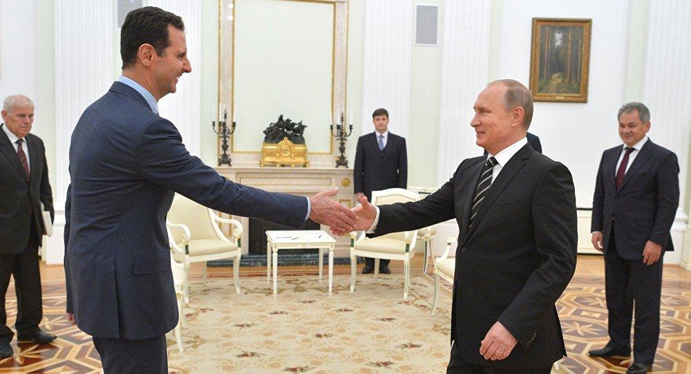 El Presidente de Rusia Vladímir Putin con el Presidente de Siria Bashar Asad
