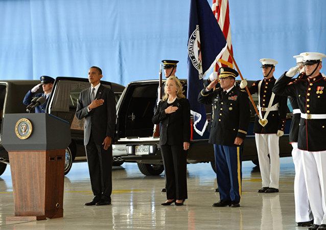 Funeral de las víctimas estadounidenses del ataque en Bengasi
