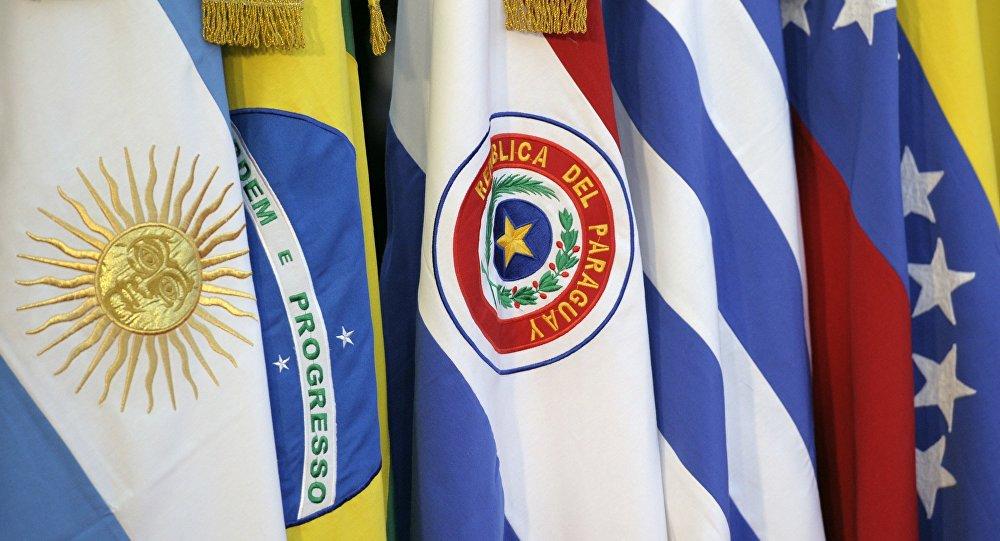 Banderas de los Estados miembros del Mercosur (archivo)