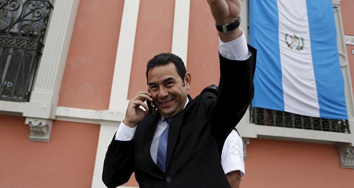 Jimmy Morales, presidente de Guatemala (archivo)