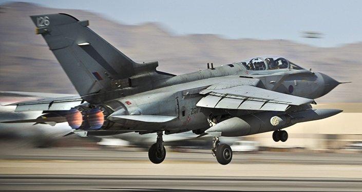 Caza Tornado GR4 de la RAF británica