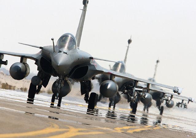 Un Rafale de las FFAA de Francia
