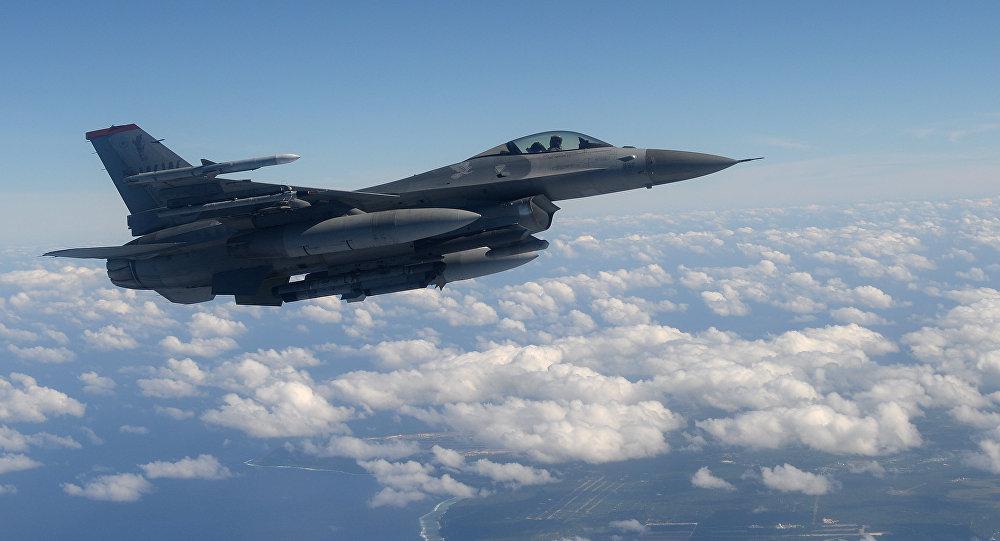 Un F-16 de la Fuerza Aérea de EEUU