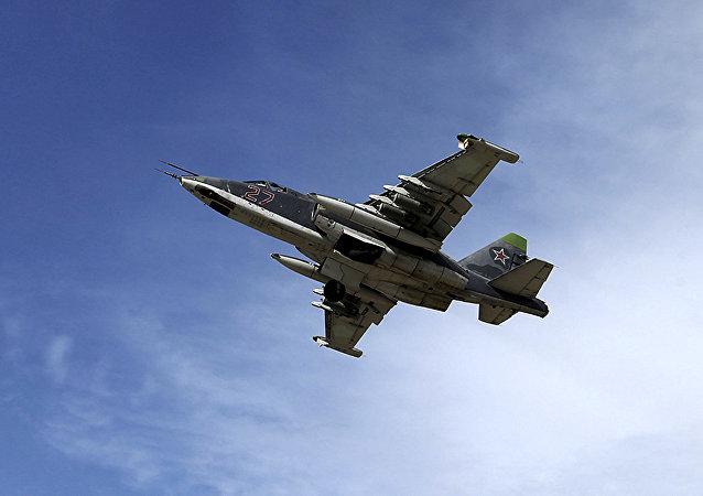 Bombardero ruso Su-25 en Siria