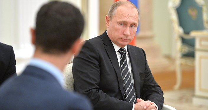 Presidente de Siria, Bashar Asad y presidente de Rusia, Vladímir Putin