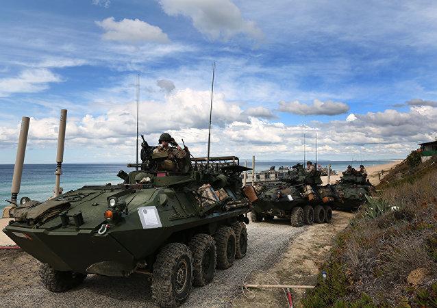 Soldados de EEUU participan en las maniobras de la OTAN Trident Juncture 2015
