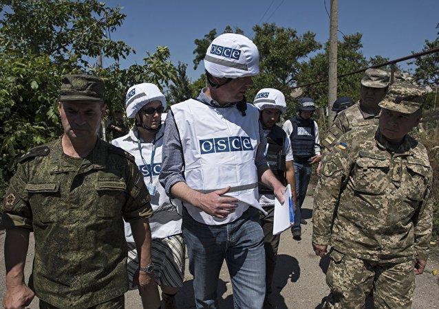Observadores de la OSCE en Ucrania