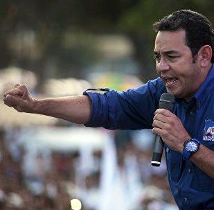 Jimmy Morales, candidato a la presidencia de Guatemala