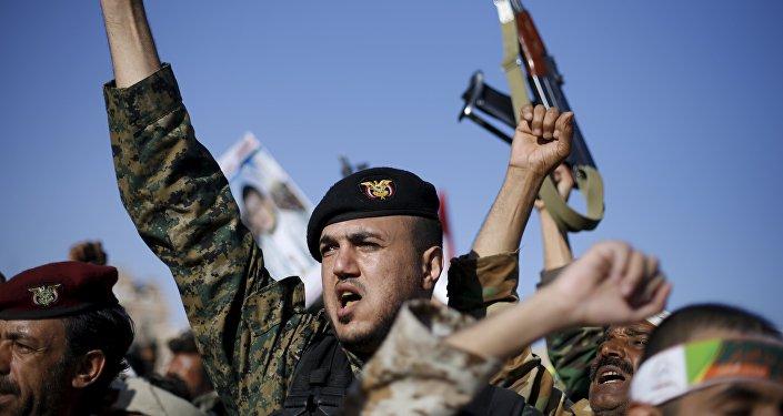 Los rebeldes yemeníes del movimiento chií Ansar Alá (hutíes)