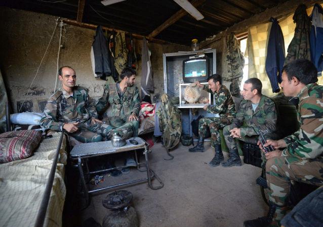 Los militares del Ejército Árabe Sirio