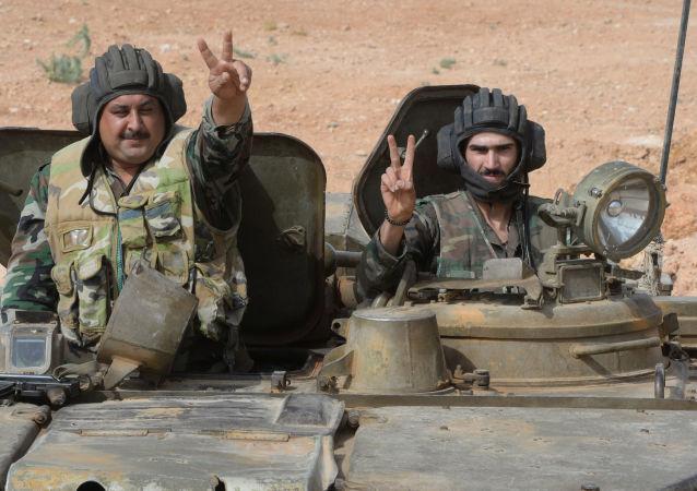 Posiciones del Ejército sirio junto a Qatana