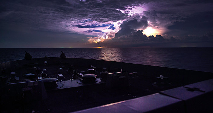 Buque de guerra estadounidense en el mar de China Meridional (Archivo)