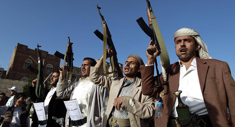 Rebeldes en Saná, Yemen (archivo)