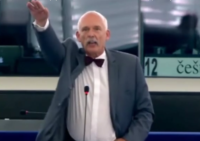 Janusz Korwin-Mikke, político polaco, miembro del Parlamento Europeo