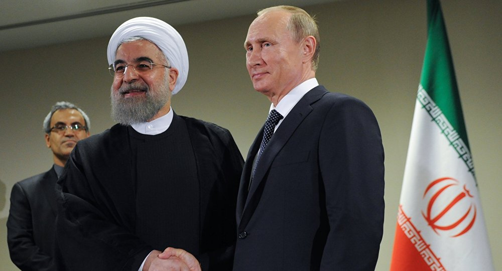 Los presidentes de Irán y Rusia, Vladímir Putin y Hasán Ruhaní