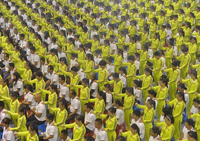 Unos 500 terapeutas practicantes de moxibustión pretenden batir un récord Guinness