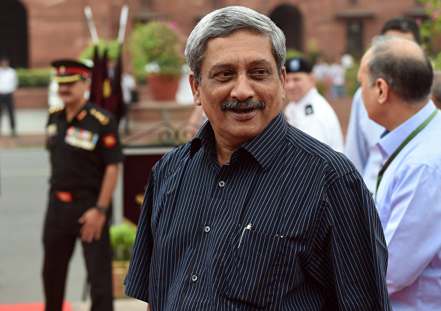 Manohar Parrikar, secretario de Defensa de India