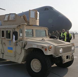 Vehículo estadounidense Humvee suministrado por EEUU a Ucrania (archivo)