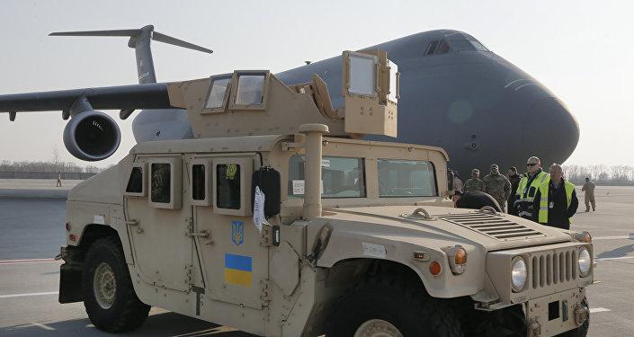 Vehículo estadounidense Humvee suministrado por EEUU a Ucrania