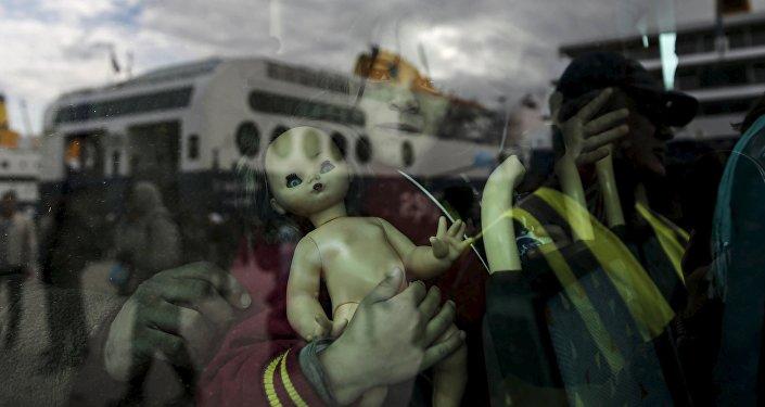 Niña refugiada (imagen referencial)