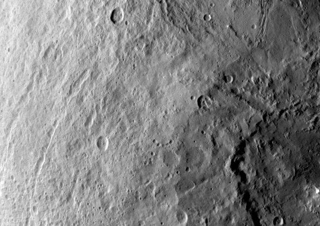 Un cráter en planeta Ceres