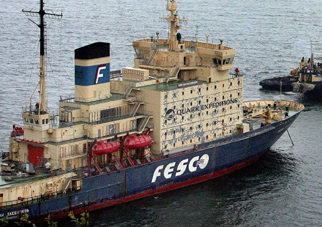 Rompehielos ruso de la empresa rusa FESCO