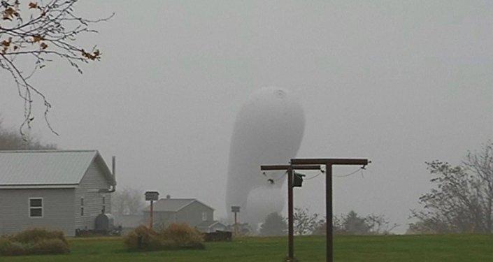 Aeróstato JLENS creado para realizar misiones de vigilancia y detectar misiles de crucero y drones