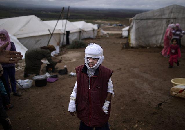 Campo para desplazados en Siria