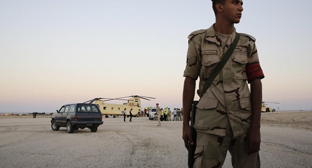Un soldado egipció (archivo)