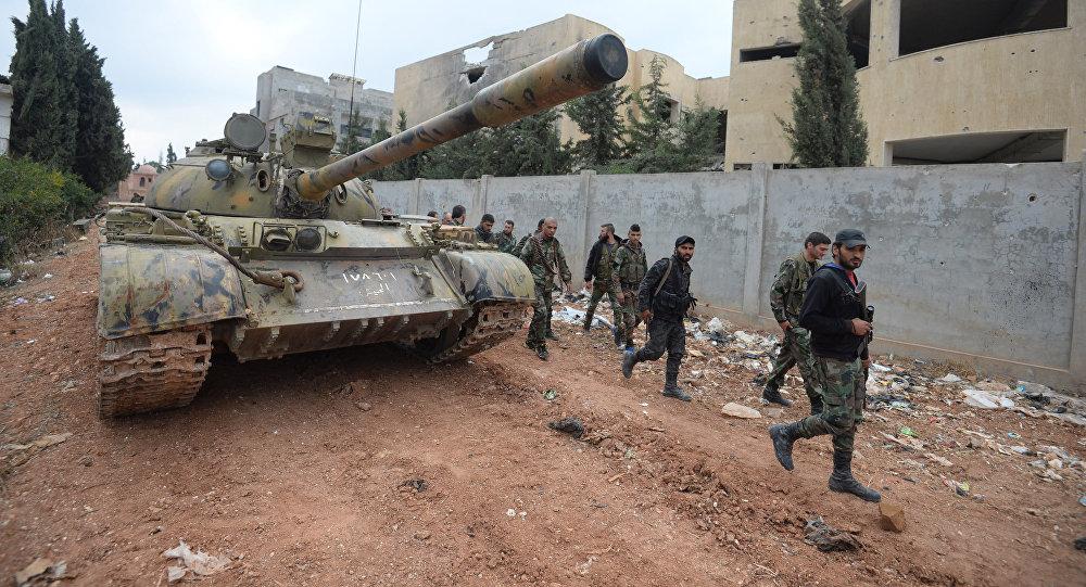 Militares sirios en Homs