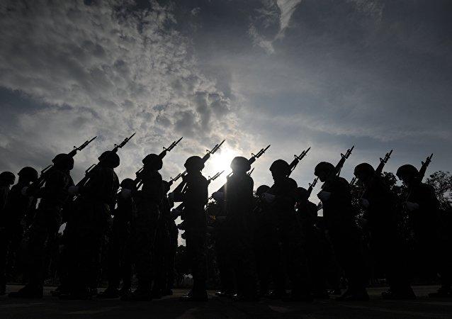Soldados del Ejército de Tailandia