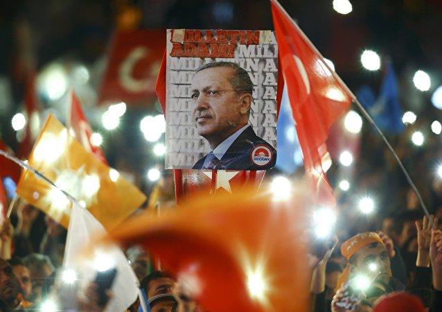 Partidarios del partido gobernante AKP (archivo)