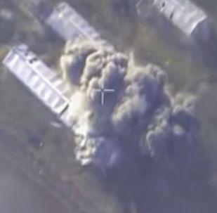 Aviación rusa bombardea una planta militar de extremistas en Alepo