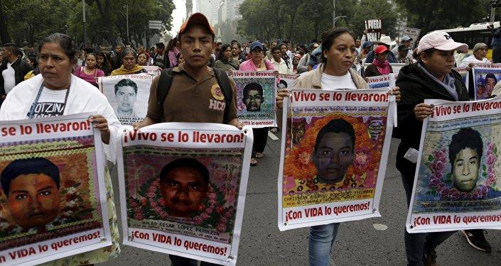 Los padres de los estudiantes desaparecidos durante las protestas