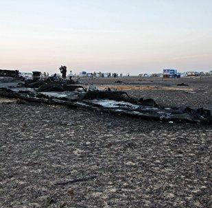 Lugar del siniestro del avión ruso A321 en Egipto