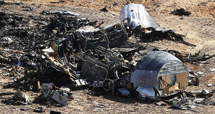 Lugar del siniestro del avión ruso A321 en Egipto (archivo)