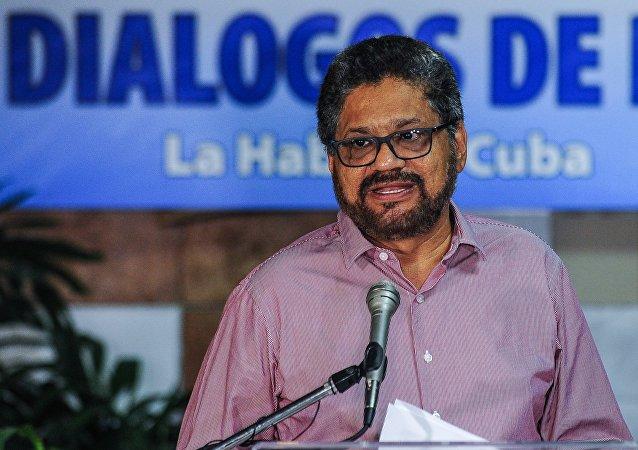 Iván Márquez, el jefe del equipo negociador de las FARC