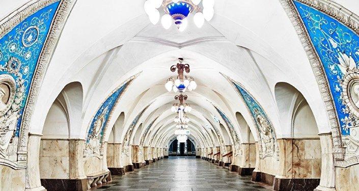 El metro de Moscú.