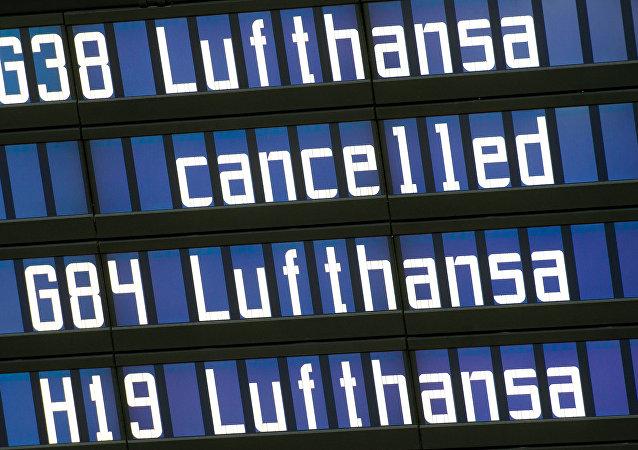 Tablero en el aeropuerto de Munich (Archivo)