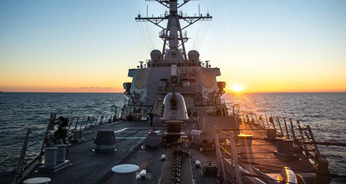 USS Donald Cook en el mar Mediterráneo