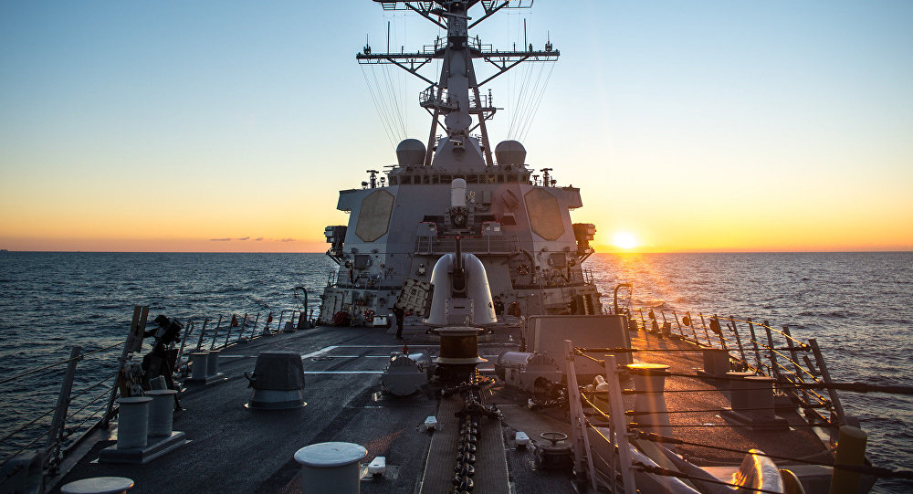 El destructor estadounidense USS Donald Cook