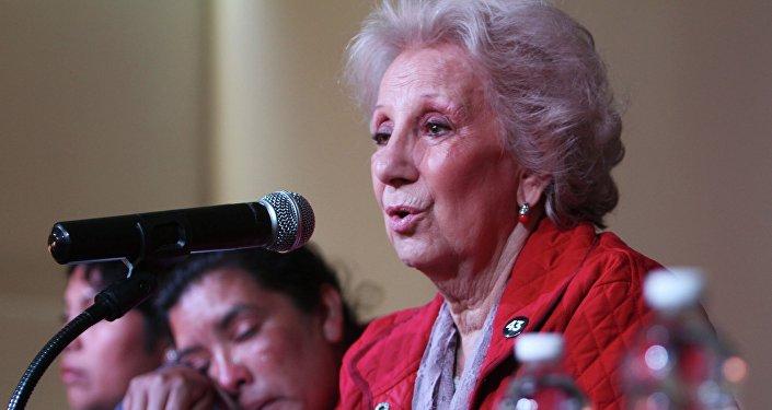 Estela de Carlotto, presidenta de las Abuelas de Plaza de Mayo