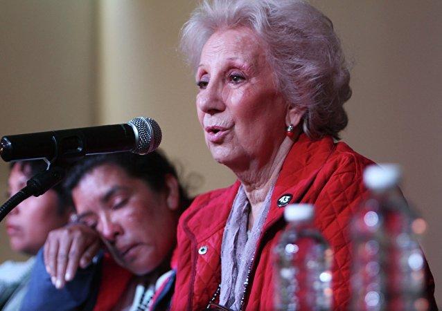 Estela de Carlotto, presidenta de la organización Abuelas de Plaza de Mayo (archivo)