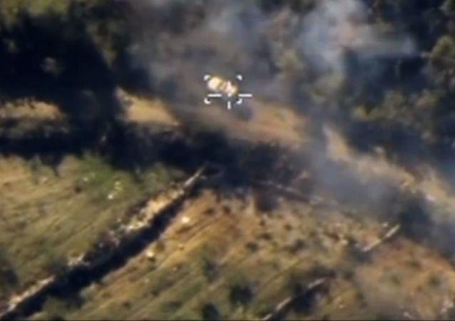 Ataques aéreos de Fuerzas Aéroespaciales de Rusia contra Estado Islámico en la provincia de Latakia en Siria