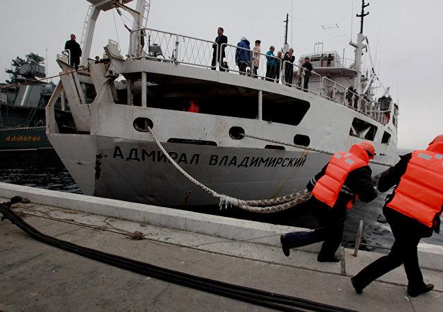El buque ruso de investigación oceanográfica Almirante Vladímirski