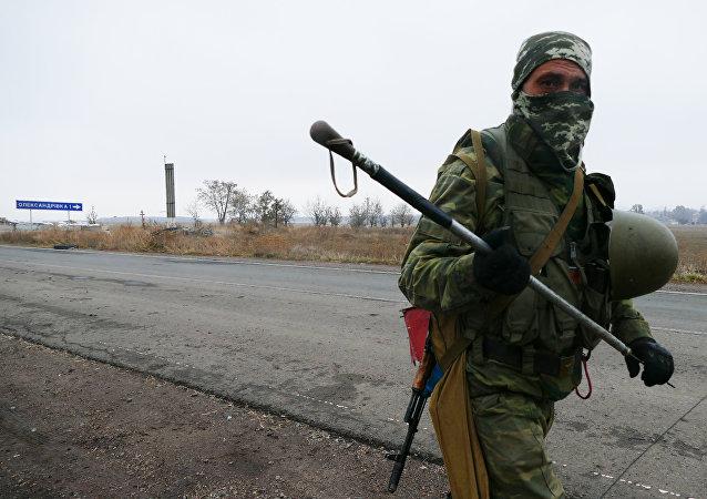 Miliciano del este de Ucrania